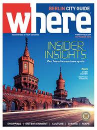 Where Magazine Berlin Sep 2018 by Morris Media Network issuu