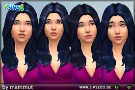 sims 4 blue hair blackys sims 4 zoo long wavy black blue hairstyle recolors sims 4