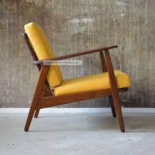 sessel mit hocker design 60er teak sessel danish design 60s easy chair vintage midcentury