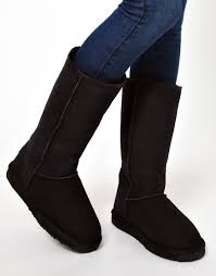 emu womens boots sale emu stinger hi sheepskin boots in black lyst