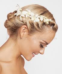 bridal flowers for hair floral hair pieces for brides wedding updo with flowers