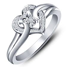 new rings images images Buy vorra fashion new white platinum plated 925 silver cz romantic jpg