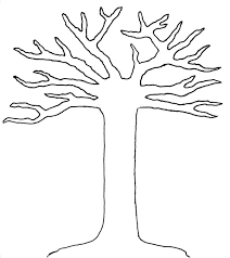 stencil of a tree outline free download clip art free clip art