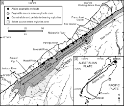 Blank Map Of Tectonic Plates by Inverted Metamorphic Sequences In Alpine Fault Mylonites Produced