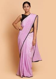 lilac blouse lilac saree black blouse with embroidery rang mohe