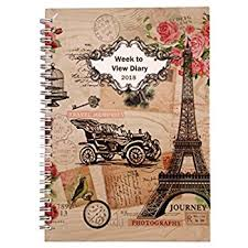 2017 2018 diary one day to page a5 spiral mid year student teacher