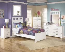 ashley lulu b102 twin size panel bedroom set 6pcs in white casual