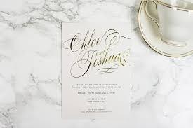 White And Gold Wedding Invitation Cards Script Invitation The Foil Invite Company