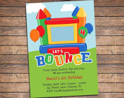 bounce house invitation printable birthday invites