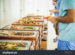 outdoor cuisine outdoor cuisine culinary buffet dinner catering stock photo