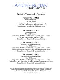 wedding videography prices andrew buckley photography prices