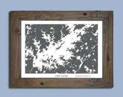 lake lanier map lake lanier etsy