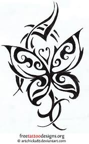 collection of 25 tribal butterfly designs