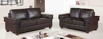 furniture comfortable brown leather couch set with plaid rug for