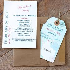 destination wedding stationery and invitation designs brides