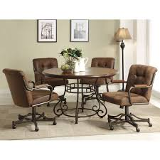 dining table with caster chairs caster dining room chairs createfullcircle com