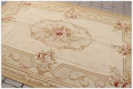 French Country Style Rugs Vintage French Aubusson Needlepoint Area Rug Home Decor Carpet