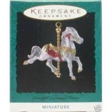 hallmark graceful carousel miniature ornament