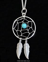 silver turquoise pendant necklace images Dreamcatcher pendant turquoise crystal bead sterling silver native jpg