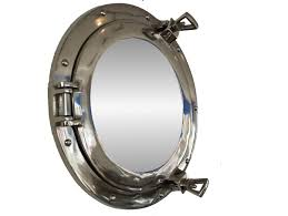 furniture classic porthole mirror for beach house wall decor