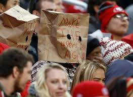 christmas gifts for 49ers fans niners and santa clara how did it go so wrong so fast