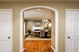 dining room trim ideas archway trim ideas dining room traditional with wood flooring wood