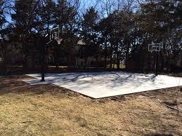 basketball courts e u0026 j concrete and dirt work