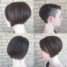 uneven bob for thick hair bеаutіful bob haircut shaved side hair cut style