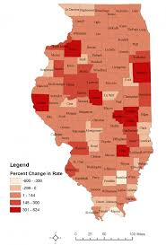Illinois Map By County by Idph Data Idph