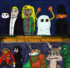 tails gets trolled halloween by ultimatelazerbot on deviantart