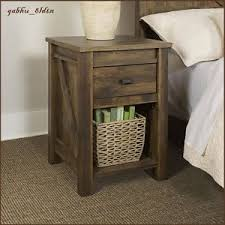 barn door side table new rustic wood finish drawer barn door style country nightstand