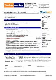 printable vehicle purchase agreement templates for proposals in
