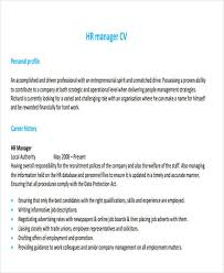 Hr Manager Resume Examples by 43 Manager Resumes In Pdf