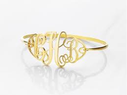 monogram bangle bracelet monogram bracelet centime gift