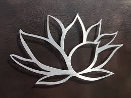 brushed lotus flower metal wall art lotus metal art home zoom