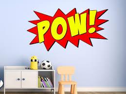 amazon com comic book pow wall decal sound effect superhero pow