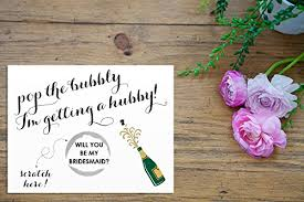 cards to ask bridesmaids scratch silver pop the bubbly i m getting a hubby