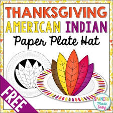 free thanksgiving american indian paper plate hat by made easy