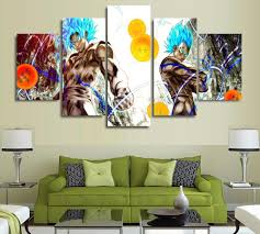 popular and dragons poster buy cheap and dragons poster lots from 5 panels wall art dragon ball z goku saiyan paintings art canvas paintings poster unframed 4365