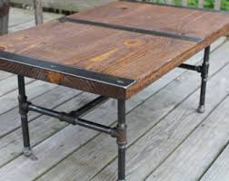Wood And Metal Coffee Table Reclaimed Wood Coffee Table Wood Table Industrial Table