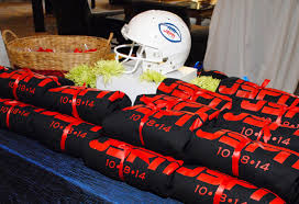 bar mitzvah favors football bar mitzvah
