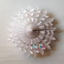3d snowflake ornament outdoor white snowflake