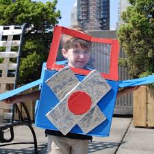 diy cardboard box halloween costumes popsugar moms