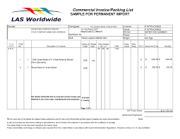 Packing List Template Excel Invoice Packing List Invoice Template Ideas