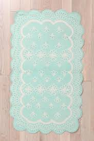 Low Profile Rug U0026 Bow Scalloped Eyelet Rug Urban Outfitters