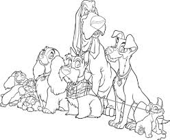 lady tramp coloring pages free coloring pages