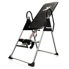 inversion table exercises for back amazon com inversion table deluxe curved chiropractic fitness