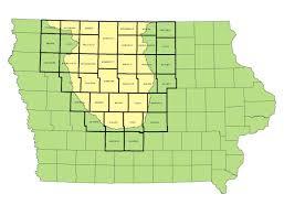 Iowa Counties Map Program Information Iowa Conservation Reserve Enhancement Program