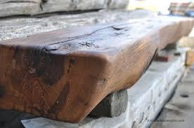 kaminholzregal fã r wohnzimmer radius wooden tree 1830s rustic log cabin fireplace mantel radius