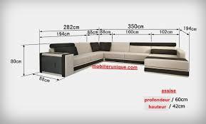 canapé profondeur 80 cm canapé d angle en cuir italien design et pas cher modèle douglas